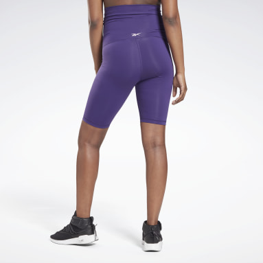 Women Studio Purple Maternity Bike Shorts