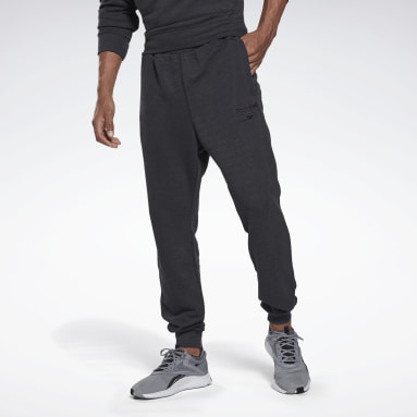 Heren Fitness & Training Zwart Training Essentials Mélange Joggingbroek