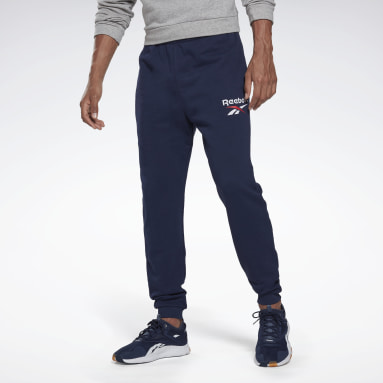 Men Training Blue Reebok Identity Big Logo Joggers