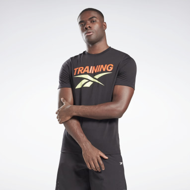 Men Cross Training Black Reebok Training Vector T-Shirt