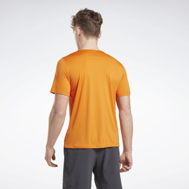 Remera Night Run Naranja Hombre Running