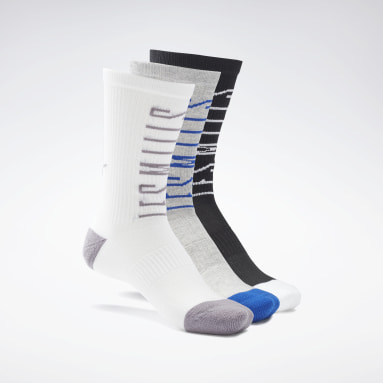 Studio White LES MILLS® Crew Socks