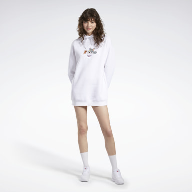 Women Classics White Tom and Jerry Hooded Dress