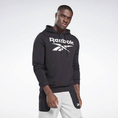 Men Fitness & Training Black Reebok Identity Big Logo Hoodie