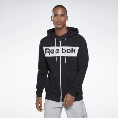 Heren Fitness & Training Zwart Training Essentials Logo Hoodie