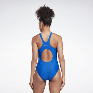 Women Swimming Blue Reebok Adelia Swimsuit