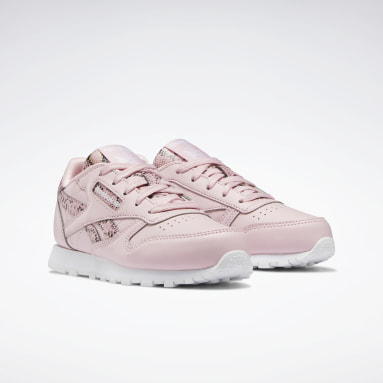 Girls Classics Pink Classic Leather Shoes