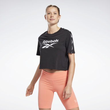 Camiseta Training Essentials Tape Pack Negro Mujer Dance