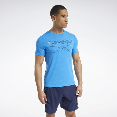 Men Cycling Blue Workout Ready ACTIVCHILL Tee
