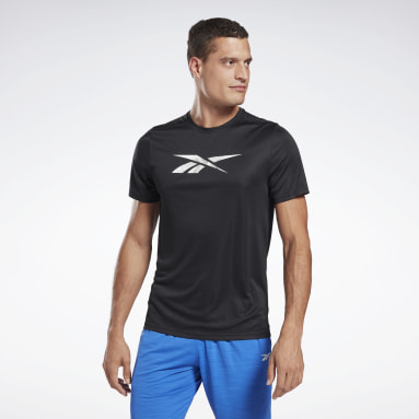 Polo Workout Ready Graphic T- Negro Hombre Fitness & Training