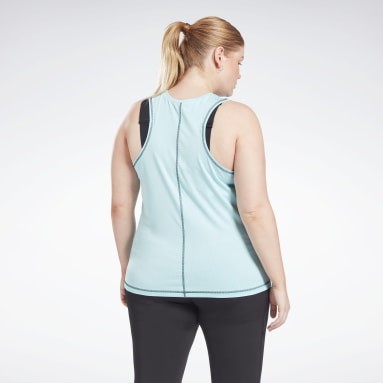 Women Dance Workout Ready Mesh Tank Top (Plus Size)