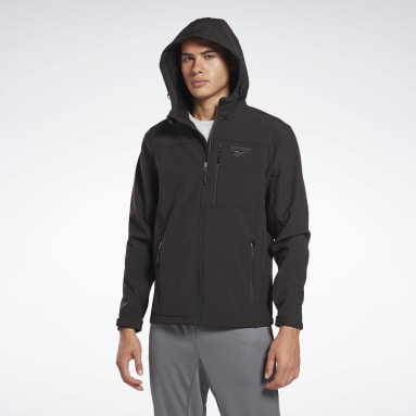 Men Hiking Black Softshell Jacket