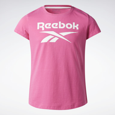 Camiseta Reebok Lock Up Rosa Niña Fitness & Training