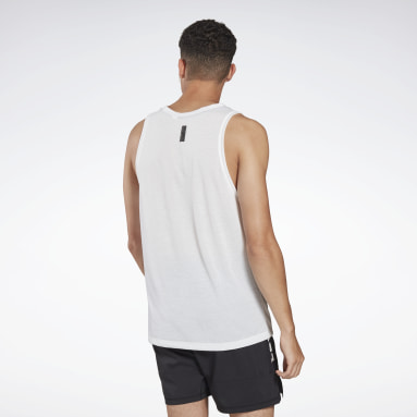 Men Studio White LES MILLS® BODYPUMP® Graphic Tank Top