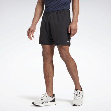 Shorts Run Essentia Basic 7-Inch Negro Hombre Running