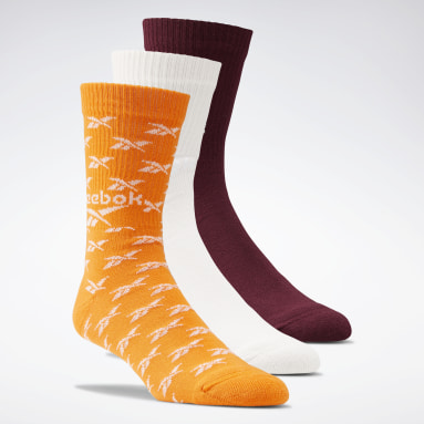 Classics Orange Classics Fold-Over Crew Socks 3 Pairs