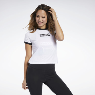 Remera Training Essentials Linear Logo Blanco Mujer Entrenamiento Funcional