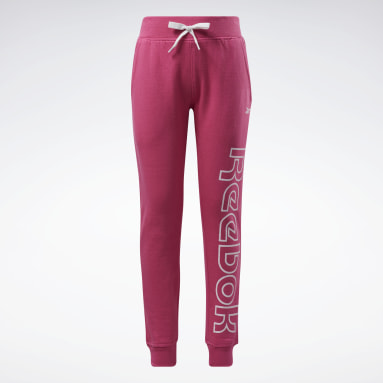 Pantalon de jogging Reebok Outline Rose Filles Fitness & Training