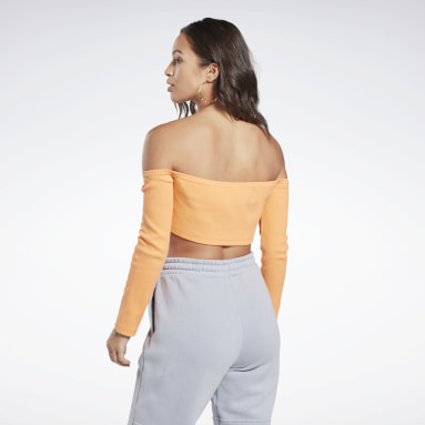 Women Classics Orange Classics Crop Top