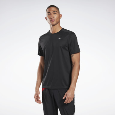 Men Trail Running Black Running Essentials Tee