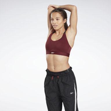 Frauen Studio Reebok Hero High-Impact Power Bra Weinrot