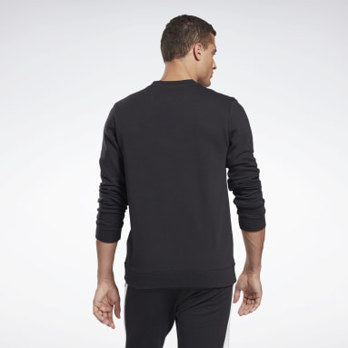 Men Fitness & Training Black Reebok Identity Crew Sweatshirt