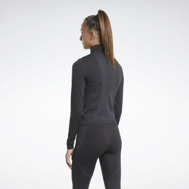 Kvinder Hiking Black Seamless Long Sleeve Tee