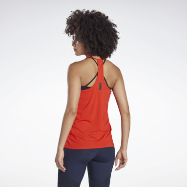 Women Studio Red LES MILLS® BODYPUMP® ACTIVCHILL Tank Top