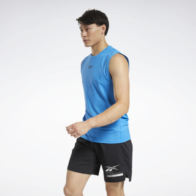 Men Studio Blue ACTIVCHILL Sleeveless Tee