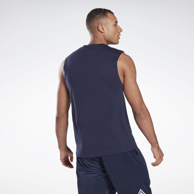 T-shirt Workout Ready Mesh Sleeveless Blu Uomo Ciclismo