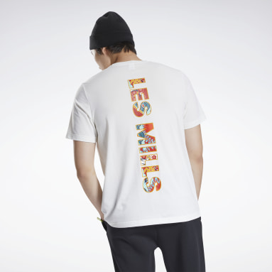 Men Pilates White Les Mills® CNY Graphic T-Shirt
