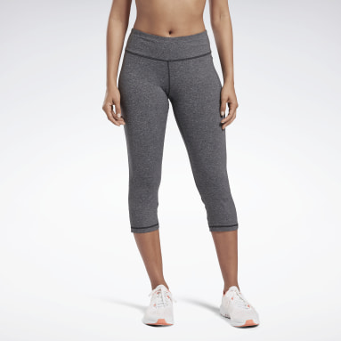 Women Trail Running Grey Reebok Lux 3/4 Tights 2