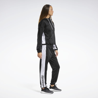 Frauen Fitness & Training Linear Logo Hoodie Track Suit Schwarz
