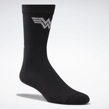 Classics Black Wonder Woman Crew Socks