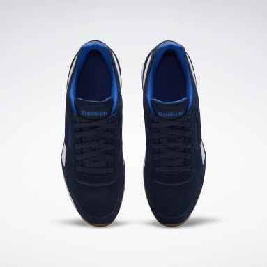 Men Classics Blue Reebok Royal Glide Shoes
