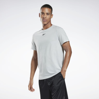 Men Fitness & Training Grey Workout Ready Mesh T-Shirt