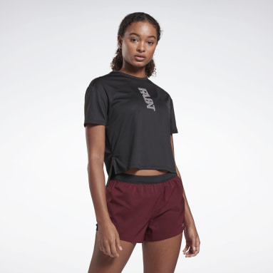 Women Trail Running Black Run Essentials Run Fast Tee