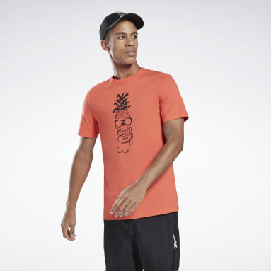 Polo Chill Pineapple Graphic T- Naranja Hombre Fitness & Training
