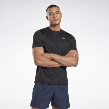 Polo Running Essentia Negro Hombre Running