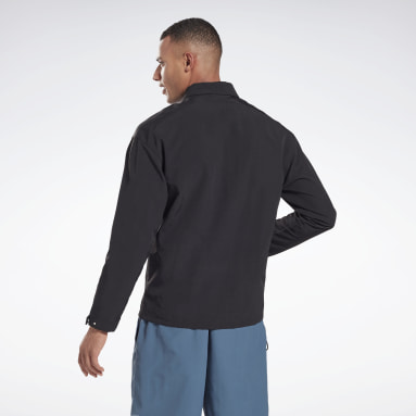 Men Hiking Black Utility Track Jacket