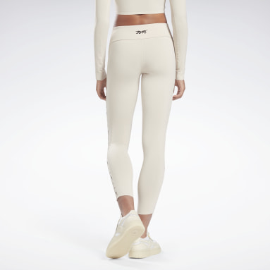 Tight VB 7/8 Logo Beige Donna Fitness & Training