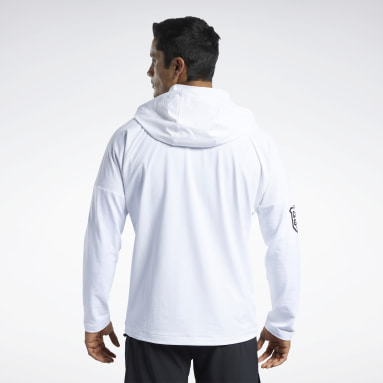 Men Cross Training White CrossFit® Control Hooded Jacket