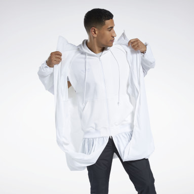 Outdoor White Juun.J Windbreaker