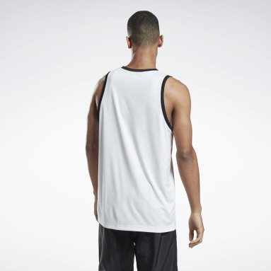 Men Fitness & Training White MYT Tank Top
