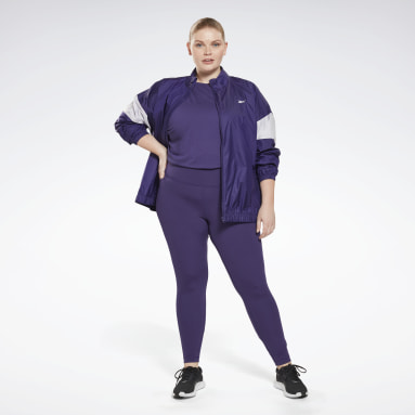 Women Hiking Purple Workout Ready Supremium Long-Sleeve Top T-Long-Sleeve Top (Plus Size)