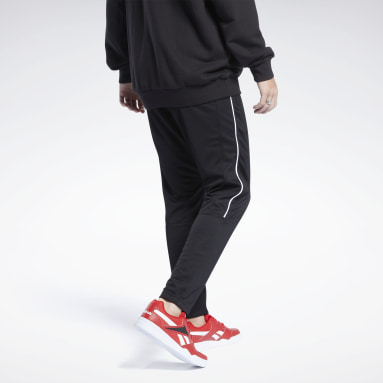 Men Classics Black Classics Linear Track Pants