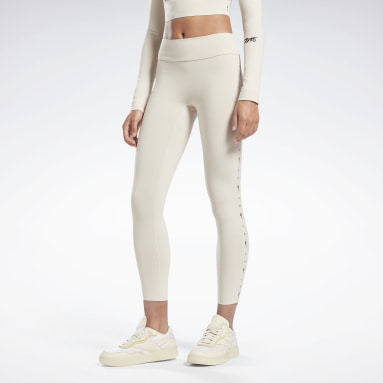 Women Fitness & Training Beige VB 7/8 Logo Tights