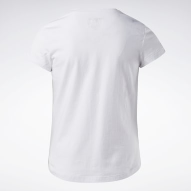 T-shirt Reebok Lock Up Blanc Girls Fitness & Training