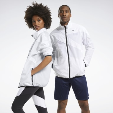 Men Training White Track Jacket