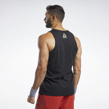 Men Cross Training Black Reebok CrossFit® Repeat Graphic Tank Top